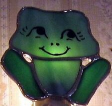 STAINED GLASS Night Light--Hand Crafted--HAPPY FROG Design