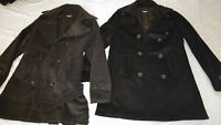 NEW Men Jacket ULTRA SOFT WOOL Trench Coat Slim Korean Asian S Small PICK 1COLOR