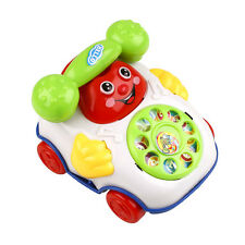 Baby Kids Children Wired Music Smiling Face Cartoon Phone Educational Toys