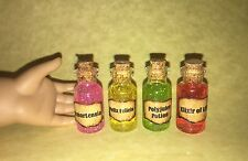 AMERICAN GIRL DOLL 4 POTION BOTTLES FOR HARRY POTTER FANS AMORTENSIA POLYJUICE +