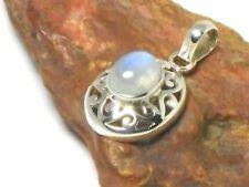 Oval  MOONSTONE   Sterling  Silver   925  Gemstone  PENDANT