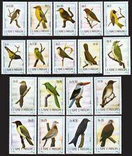 St Thomas & Prince 727-744 short set,lightly hinged.Michel 879-896. Birds 1983