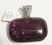Lia Sophia Grape Chill Purple Silver Slide Pendant RV$32