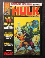 1978 HULK Rampage UK Marvel Magazine #6 FN+ 6.5 Sub-Mariner Defenders Nova