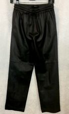 J Brand pant black lambskin leather elastic waist size extra small NWT $995