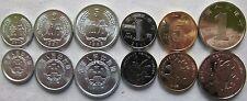 China set of 6 coins 1987-2013 (1+2+5 Fen+1+5 Jiao+1 Yuan) UNC