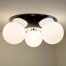 437b 70's Vintage Ceiling Light Lamp Fixture midcentury eames mod retro chrome
