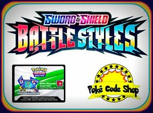 BATTLE STYLES CODES ~ Pokemon Online Booster Sword & Shield Code TCGO FAST EMAIL