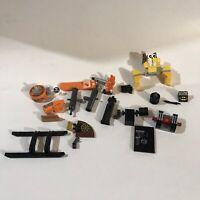 Lego Specialty Piece Lot Batman,transformers,cannons Etc