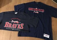 Atlanta Braves MLB Mens XL Shirts Lot Of 2 Baseball Athletic Sportswear GUC