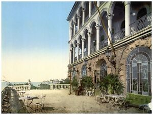4782.Marseille three-story house on river.POSTER.decor Home Office art