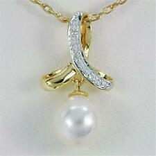 Gold Natural Pearl Fine Necklaces & Pendants