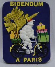 MICHELIN BIBENDUM à vélo Paris Tour Eiffel pneu magnet résine 6.5x5 cm
