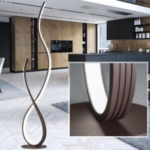 Lampadaire LED salon salle à manger couleur rouille éclairage lampe côté vagues