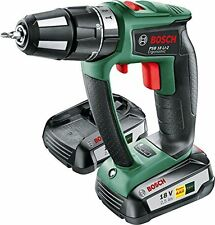 Bosch PSB 18 LI-2 Ergonomic Cordless Combi Drill with 2 18 V Lithium-Ion Battery