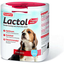 Beaphar Lactol Milk Replacer for Puppies 500g 1L Vitamin Fortified Powder Dog