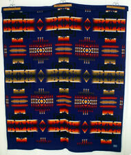 "PENDLETON Wool Blanket Beaver State Chief Joseph Queen 63x77"" 80s Native Charity"