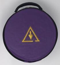 New Freemason Masonic Royal And Select Masons Cap Case In Purple with Emblem