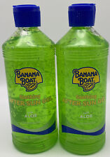 2 - 16 oz. bottles Banana Boat Soothing After Sun Gel with Cooling Aloe Vera