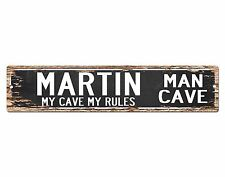 SPMC0085 MARTIN MAN CAVE Rules Street Chic Sign Home man cave Decor Gift