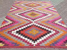 "Antique Turkish Kilim Rug,Antalya Rug,Wool Rug,Rugs 81,1""x106,6"" Area Rug,Carpet"