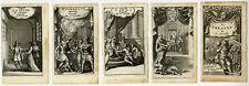 5 Antique Prints-THEATRE-CORNEILLE-LE MENTEUR-CINNA-POLYEUCTE-Anonymous-ca. 1675