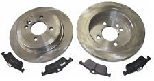For Mini One Cooper R50 R52 R53 Rear Axle Solid Brake Discs and Pads Set Kit