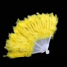 Women Feather Fan Dance Props Hand Goose Feather Folding Nice Wedding Fan lovely