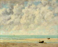Gustave Courbet The Calm Sea Giclee Art Paper Print Poster Reproduction