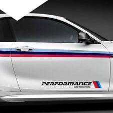 BMW M Performance Door Side Skirt Sticker Decal Vinyl Graphic BLACK Universal x2