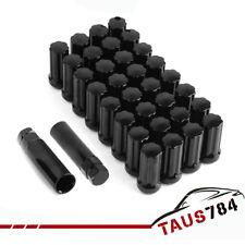 32 PC For CHEVY GMC 8 LUG 2500 3500 DURAMAX DIESEL 14x1.5 BLACK SPLINE LUG NUTS