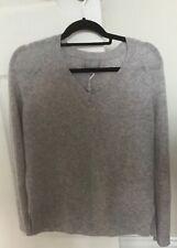 PURE COLLECTION Dove Grey Gassato Lofty Cashmere Jumper, Size 10