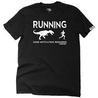 Running T-Shirt Funny Novelty Mens tee TShirt - Running Some Motivation Required