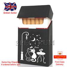 """Silicone Cigarette Case/Cover """"Cats in Love"""" Black (Same Day Dispatch)"""