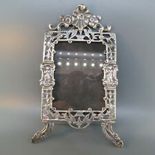 Early European Ornate Silver Picture Frame