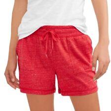 Women's Regular & Plus Size Knit Gym/Lounge Shorts: S-M-L-XL-XXL