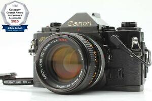 【NEAR MINT】 Canon A-1 Black + FD 50mm f/1.4 SSC S.S.C. Data Back A From JPN 1640