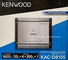 NEW Kenwood KAC-D8105 Class D, 5-Chan Amplifier, 50W RMS x 4 + 300W x 1 @ 4 Ohms