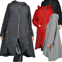 Wollemantel Mantel Wolle Jacke zipfelig Kapuze A-Form 46 48 50 52 L XL