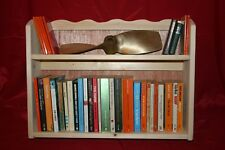 Wooden shelves. Wall storage unit, kitchen, boat galley, cup rack, book case