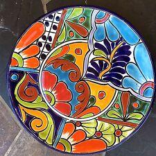 "TALAVERA POTTERY DINNER PLATES  10"" MEXICAN IMPORTS DISH FOLK ART"