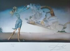 """SALVADOR DALI """" MIRAGE """" HAND NUMBERED PLATE SIGNED LITHOGRAPH"""