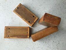 4 x Wooden blocks, furniture feet, cabinet making, furniture making