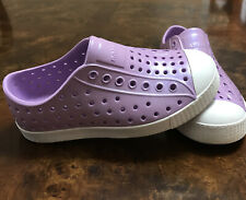 """""""Native"""" Jefferson Shoes Toddler Girl'S Iridescent Purple ,(size11 C)"""