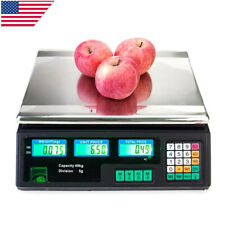 88lb40kg Digital Weight Price Scale Computing Deli Food Meat Computer Scale Us
