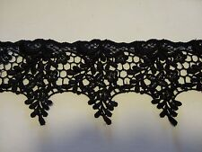 "Gorgeous Venise Lace in Black Rayon - 3"" Wide - 10 yds for $25.99"
