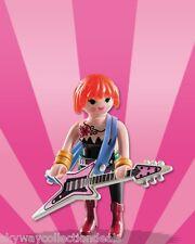Rare Special Playmobil figure.Rock Star , Punk Guitarist .FI?URES Series. NEW.
