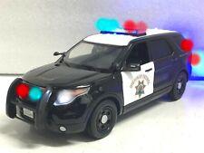 1/18 *CHP Police Interceptor SUV PI WORKING Emergency POLICE LED LIGHTS Ut