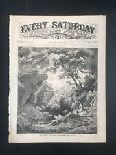 1870 Every Saturday Magazine Cover Pg, The Valley Of Puttlach Switzerland