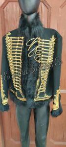 New Napoleonic Hussars Uniform Military Style Tunic Pelisse Winter Jacket